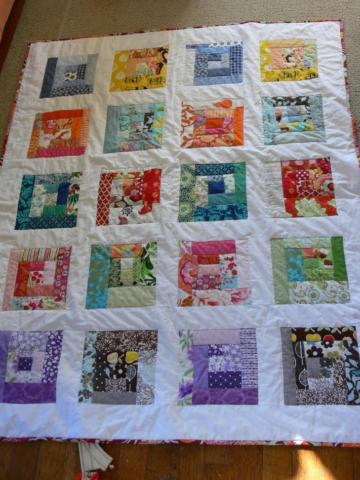 Jenny: Scrappy Squares Quilt - Finished!