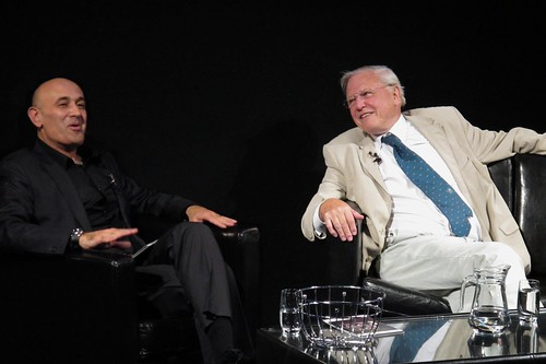 Campus life: Jim meets Sir David Attenborough