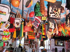 "De Kulture Embassez - more  stuff (NigelDurrant) Tags: road street red green leather yellow shop gold souvenirs store culture kitty guyana georgetown goods clothes bags selling rasta rastafarian paraphernalia kulture ""south street"" america"" ""bob ""david ""de marley"" embassez"""