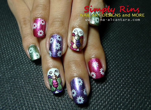 Nail Art Caronia Butterfly 11