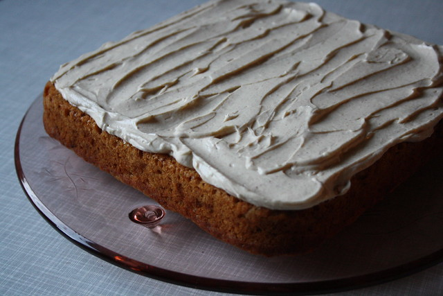 spiced applesauce cake.
