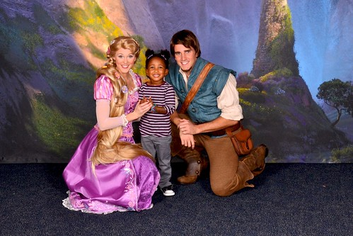 Eliza with Tangled characters