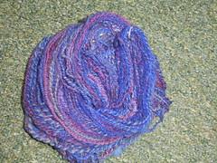 Random dyes spindlespun
