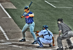 The Pronk and the Pudge (OtisDude) Tags: baseball dh catcher clevelandindians hdr pudge comericapark detroittigers pronk selectivecoloring travishafner singleraw partproject partdonkey
