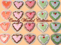 Candy Warhol (Pinks & Needles (used to be Gigi & Big Red)) Tags: cookies hearts andywarhol shortbread