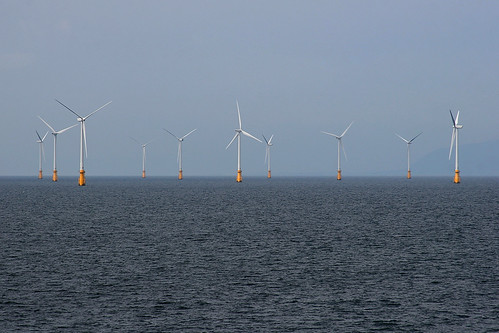 creative commons hi-res photo of the day:  off shore wind farm (3164 x 2109)