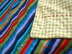 Wild Stripes (Vaedri1) Tags: knitting blanket knitty wildstripes