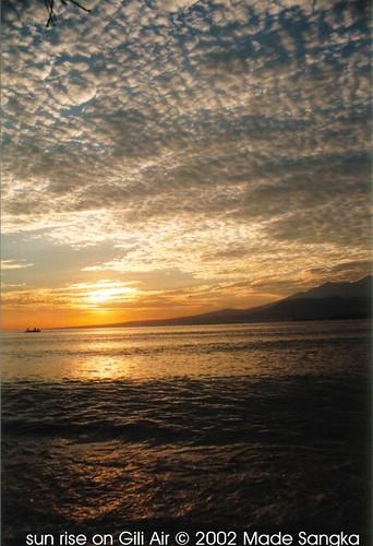 sun rise on Gili air