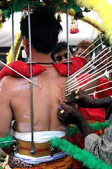 Piercing (hcjonesphotography) Tags: prayer piercing altar ritual procession devotee hindu trance thaipusam purification kavadi ritualpiercing
