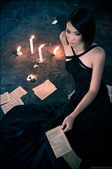 Book of Lies. (zemotion) Tags: black asian candles dress darkness pages books rod torn candlelight breathtaking bookoflies zemotion