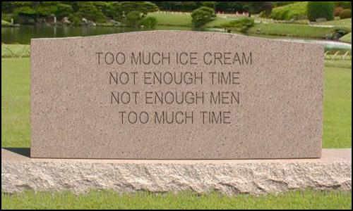 Ice Cream Tombstone