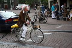 old man on a bike, Amsterdam
