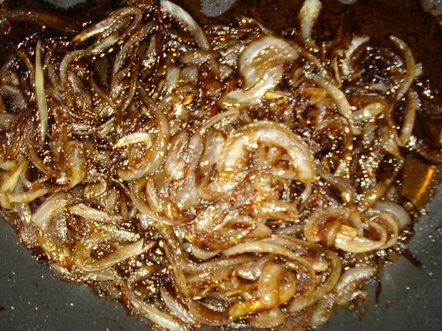 Onions being cooked