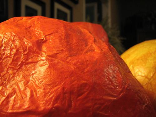 lumpy paper mache pumpkin