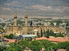 Nicosia view (Mike G. K.) Tags: old trees houses mountains church view cyprus mosque nicosia mikegk:gettyimages=submitted