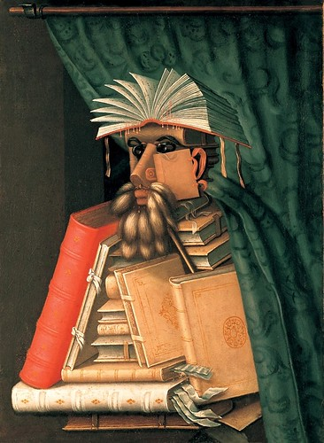 010-El bibliotecario 1570-Giuseppe Arcimboldo