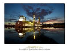 ... Likas Mosque ... (liewwk - www.liewwkphoto.com) Tags: state mosque sabah kota masjid kinabalu likas bandaraya