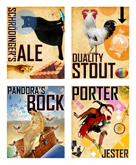 Beer Labels (Paul N Grech) Tags: beer photoshop graphicdesign jester ale science alcohol brewery physics mathematics mystical illustrator duality pandora porter brew mythology bock stout schrodinger packagingdesign quantummechanics craftbeer paulgrech