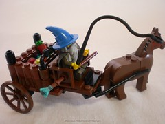 Lord of the Rings Custom Lego Gandalf's Cart