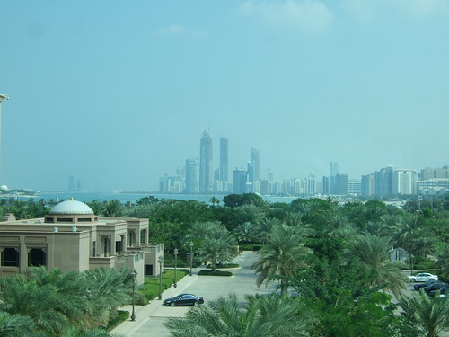 Abu Dhabi in Distance