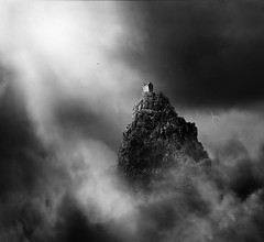 . (rasmuskopperudriis) Tags: cloud white house mist mountain black bird fog dark scotland lightning rasmus riis kopperud