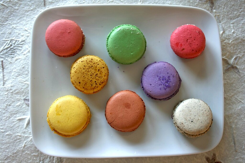 Top view of macarons