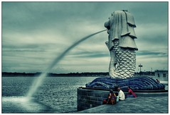 Merlion (semireality) Tags: city summer singapore cityscape explore tropical cbd hdr merlion   singleexposurehdr