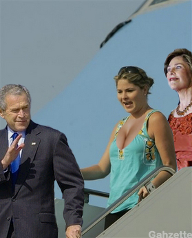 Dubya, Jenna and Pickles Bush
