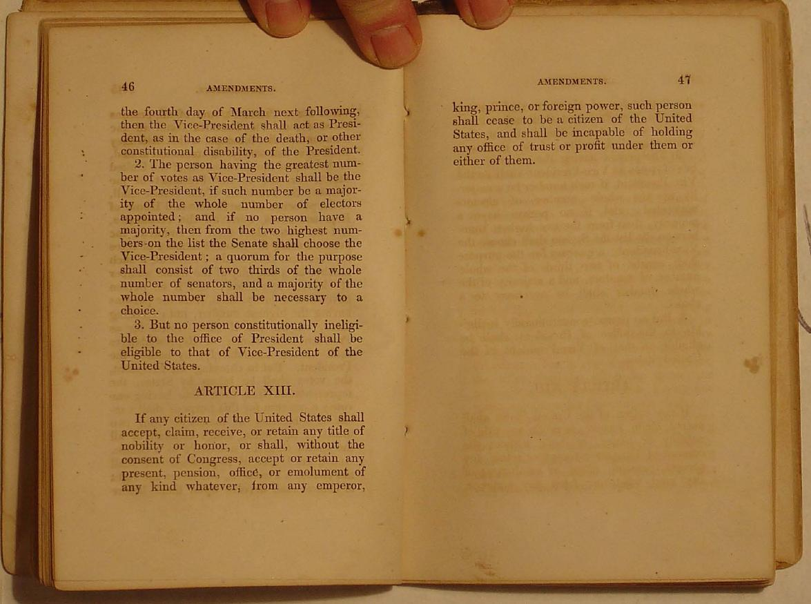 the missing th amendment an odd constitution story the missing 13th amendment an odd constitution story acirc