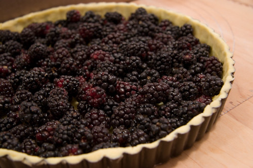 olaillieberries in the tart shell