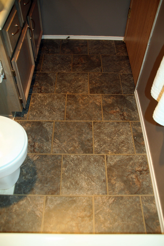 New tile in bathroom