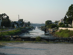 The canal near Canal Road beach, Westport