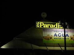 Es Paradis, Ibiza (juliaclairejackson) Tags: light shadow music house sign yellow club night outside dance afternoon graphic clubbing ibiza signage type eivissa balearic esparadis welovesundays evissa letsavit oiioii