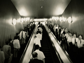 FADED MEMORY: escalator