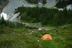 A nice camp (Mark Griffith) Tags: washington tent marmot snowlake i90 campsite snoqualmiepass kylefreeman