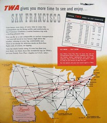 See and Enjoy (Telstar Logistics) Tags: sanfrancisco illustration 1954 connie airlines lockheed brochure twa constellation