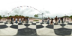 The human chessboard (gadl) Tags: panorama saintmartin waterfront 21 tripod gimp human clones tiana clone chessboard 360° 360°x180° marigot hugin humain enblend equirectangular guno frontdemer échiquier gadl 303sph