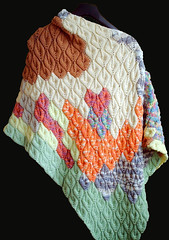 candle poncho 001 (Diana Prince) Tags: knit multicolored poncho candleflame