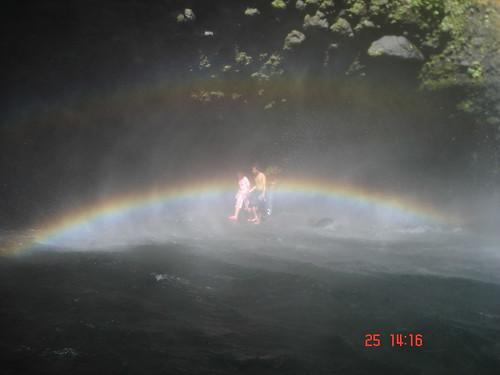 walking in rainbow