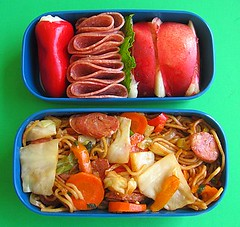 Yakisoba lunch (Biggie*) Tags: food lunch box peach mint cabbage carrot peaches bento onion yakisoba salami bellpepper packedlunch boxlunch bentobox obento biggie brownbag lunchinabox friednoodles chinesesausage whitepeach stuffedpepper yellowbellpepper redbellpepper japanesenoodles sacklunch orangebellpepper bentoblog brownbaglunch ssbiggie lunchinaboxnet garliconioncheese garlicandonioncheese hsintungyang twittermoms