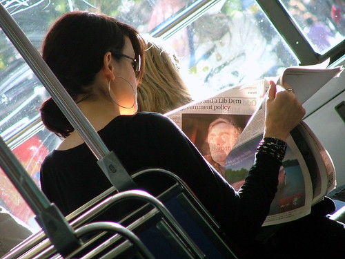 Reading on the bus