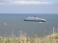 The Queen Elizabeth II, leaving Scarborough