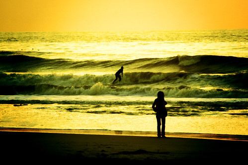 the surfer and his girl by marie-ll