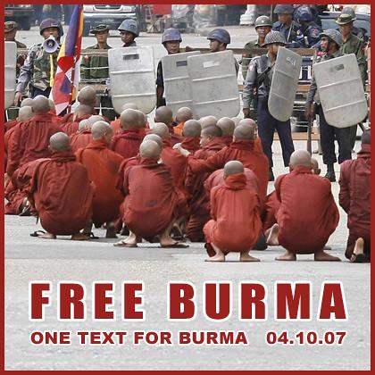 Free Burma - Sit - 04.10.07 - www.free-burma.org