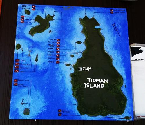 Map of Pulau Tioman