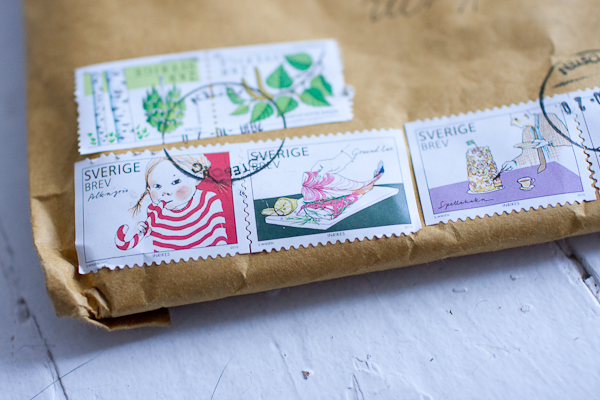 beautiful swedish stamps