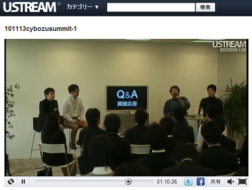 USTREAM #cybozusummit