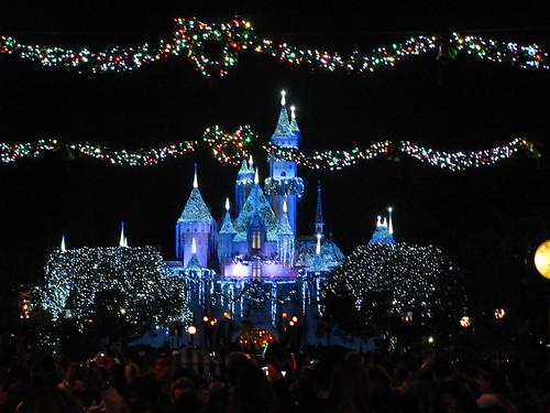 Sleeping Beauty's Winter Castle Lighting from Main Street