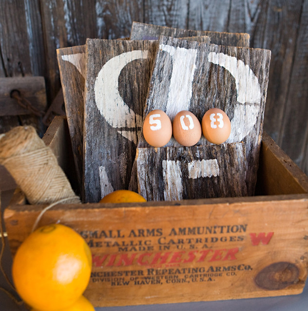 monogram barnwood {box of letters}