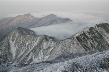 大休峠付近の雲海